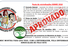 Pauta de reivindicações SISMEC 2018.