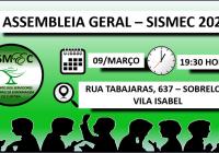CONVOCAÇÃO ASSEMBLEIA GERAL – SISMEC
