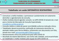 Novo fluxo para proteçao ao profissional da Saúde.