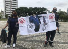 Sismec encabeçou ato de protesto contra a terceirização do Samu