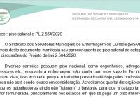 Parecer sobre o Piso Salarial e PL 2564/2020