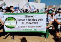 Sismec integra e apoia comitiva curitibana na 2.ª Marcha da Enfermagem