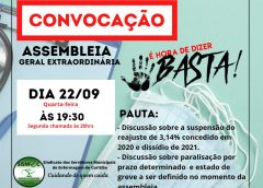 Edital de convocação Assembleia Geral Extraordinária 22/09/2021